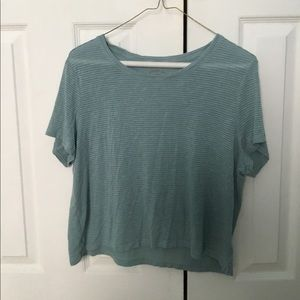 Light Turquoise Cropped T-Shirt